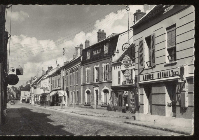 ANGERVILLE. - Rue nationale. Photo Edittion Vauclair.