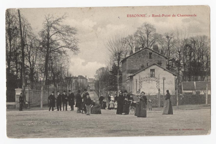 ESSONNES. - Rond-point de Chantemerle, Bonvalot, 1906, 1 mot, ad.