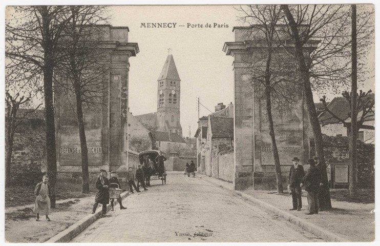 MENNECY. - Porte de Paris [Editeur Vasse].